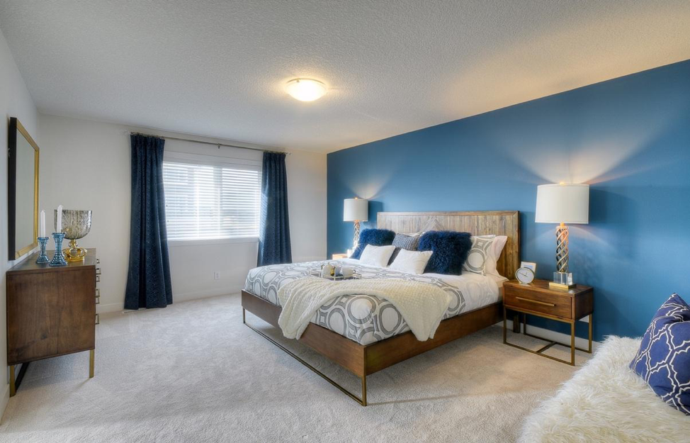 Bedroom in the Kingsley by NuVista Homes