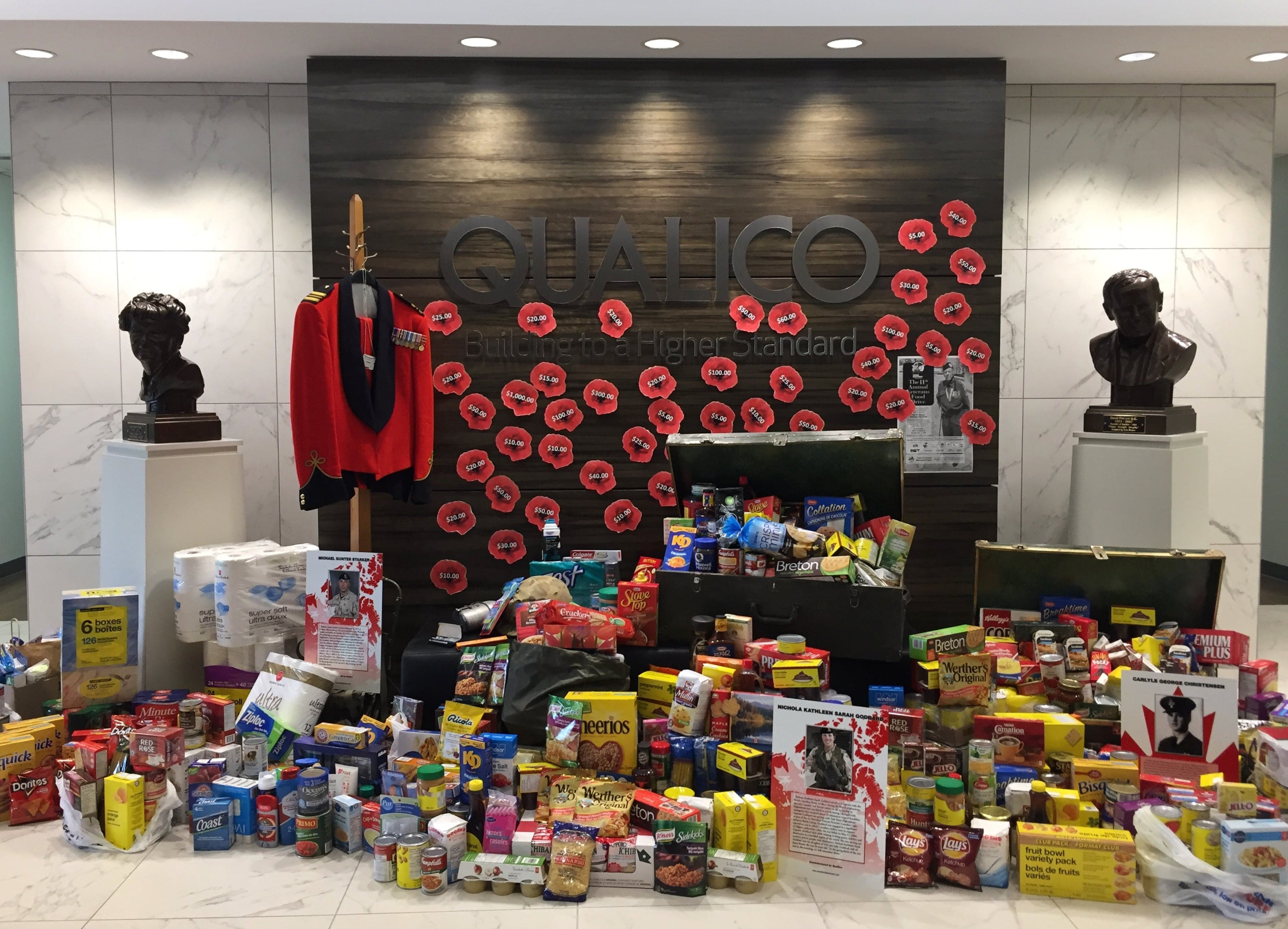 Qualico Communities Calgary Gives Back: The 2017 Veterans Food Drive