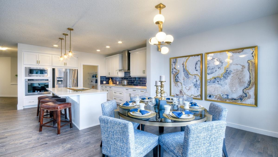 Second dining in the Kingsley by NuVista Homes
